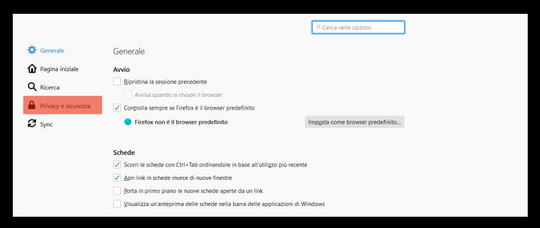 mozilla_firefox_privacy e sicurezza